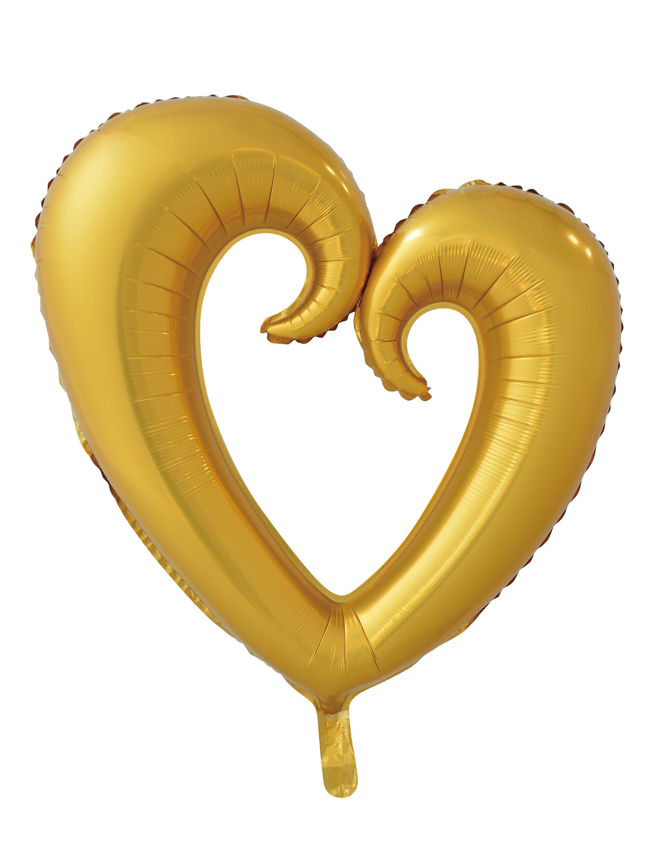 Folienballon Herz geschungen gold