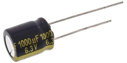 Panasonic 1000μF Electrolytic Capacitor 6.3V dc, Through Hole - EEUFK0J102 (5)
