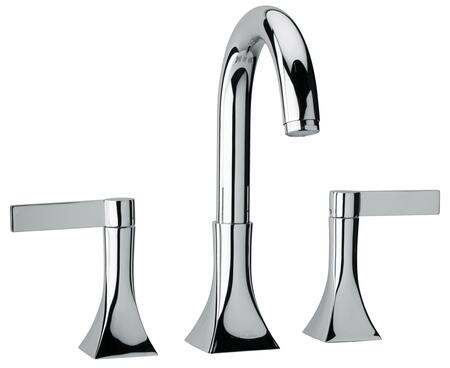 17102-72 Two Blade Handle Roman Tub Faucet With Goose Neck Spout  Designer Polished Brass