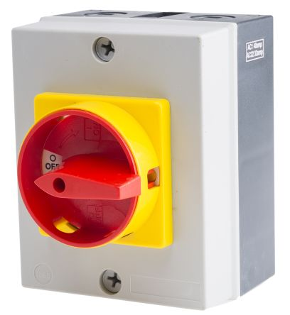 RS PRO 3 Pole Panel Mount Non Fused Isolator Switch - 40 A Maximum Current, 18.5 kW Power Rating, IP65