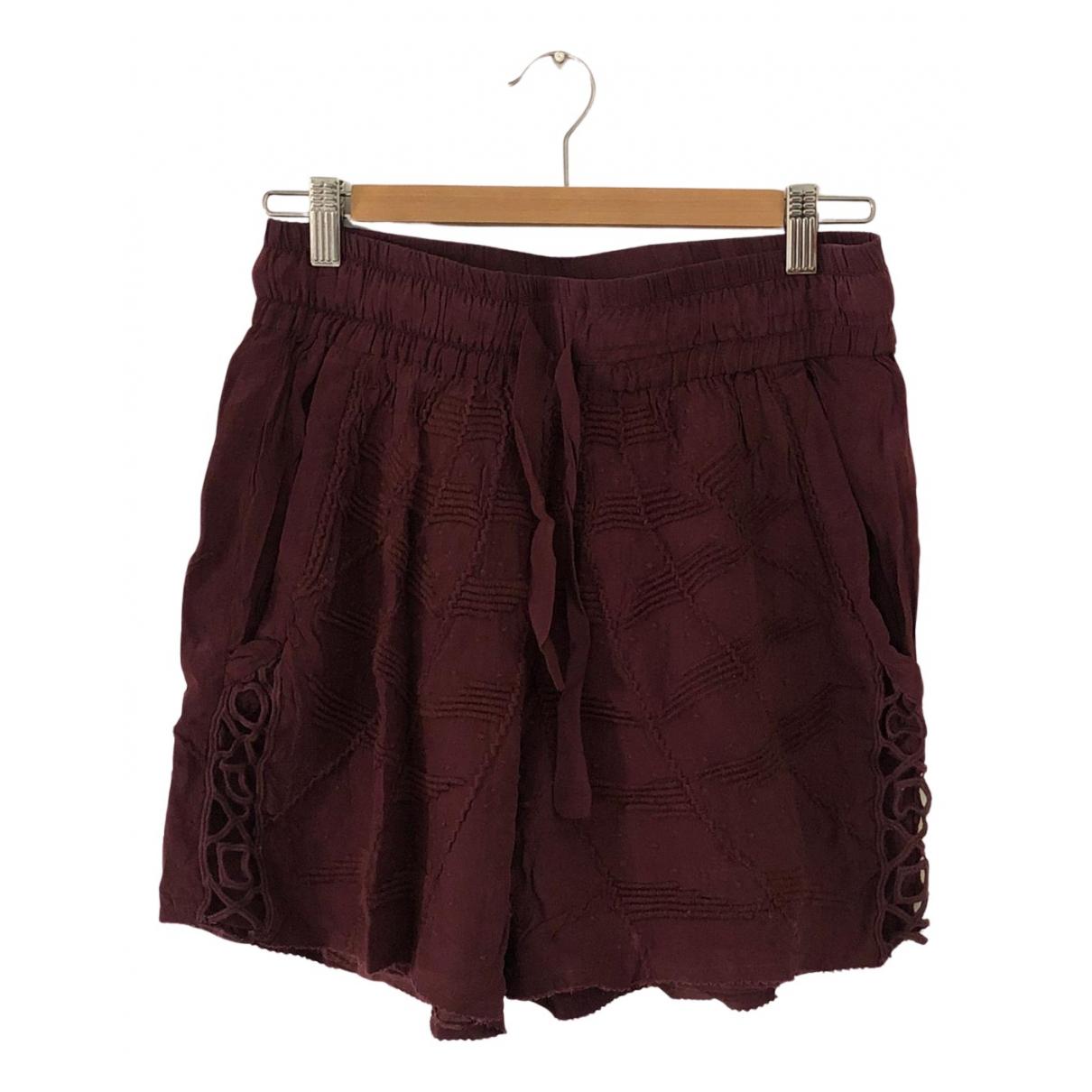 Iro N Burgundy Shorts for Women 36 FR