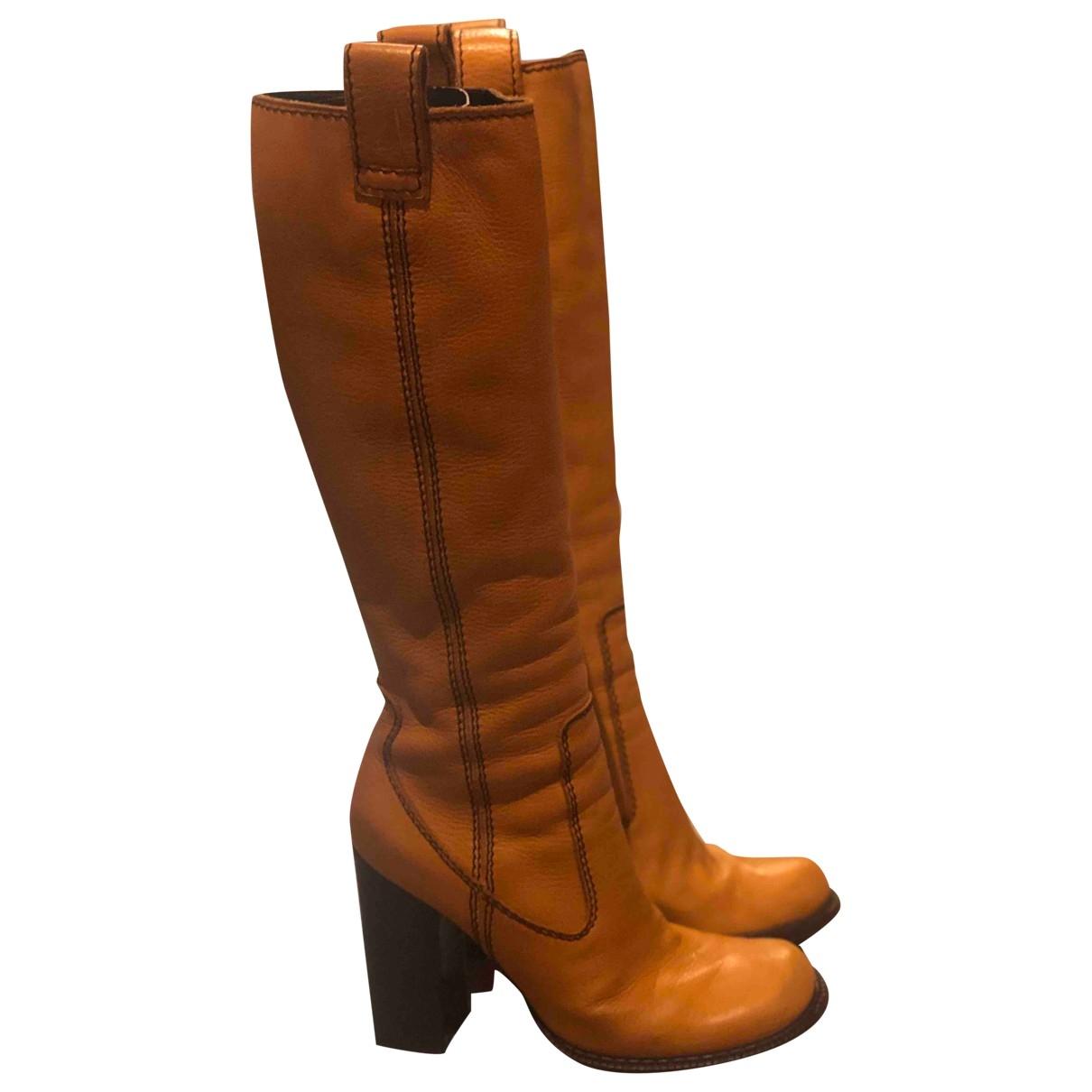 Dsquared2 - Bottes   pour femme en cuir - orange