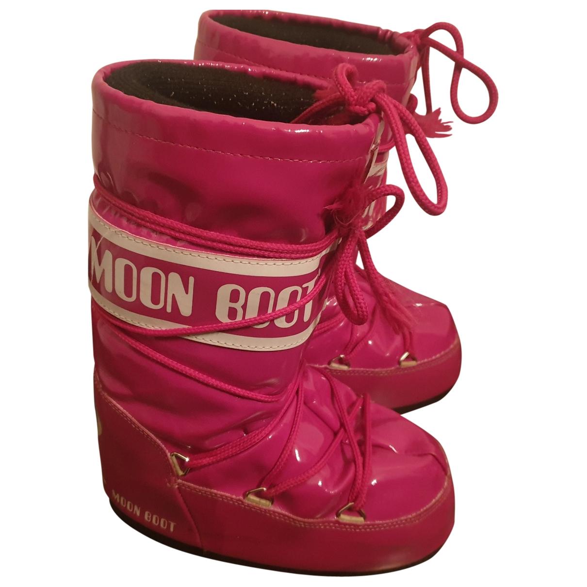 Moon Boot - Bottes.Bottines   pour enfant - rose