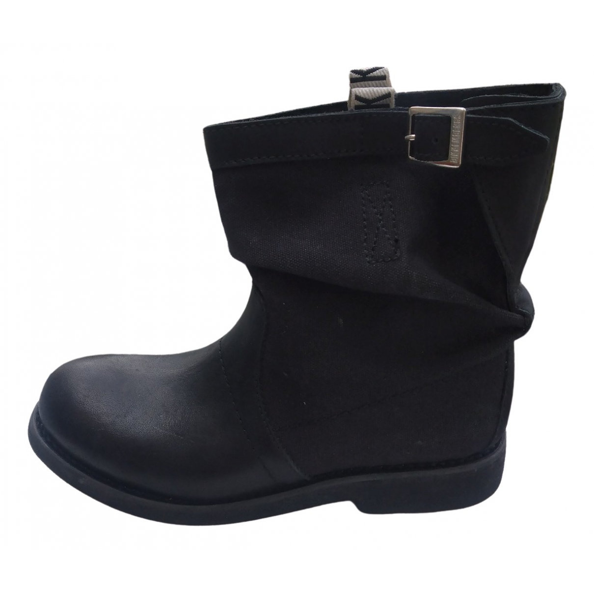 Dirk Bikkembergs \N Black Leather Boots for Women 38 EU