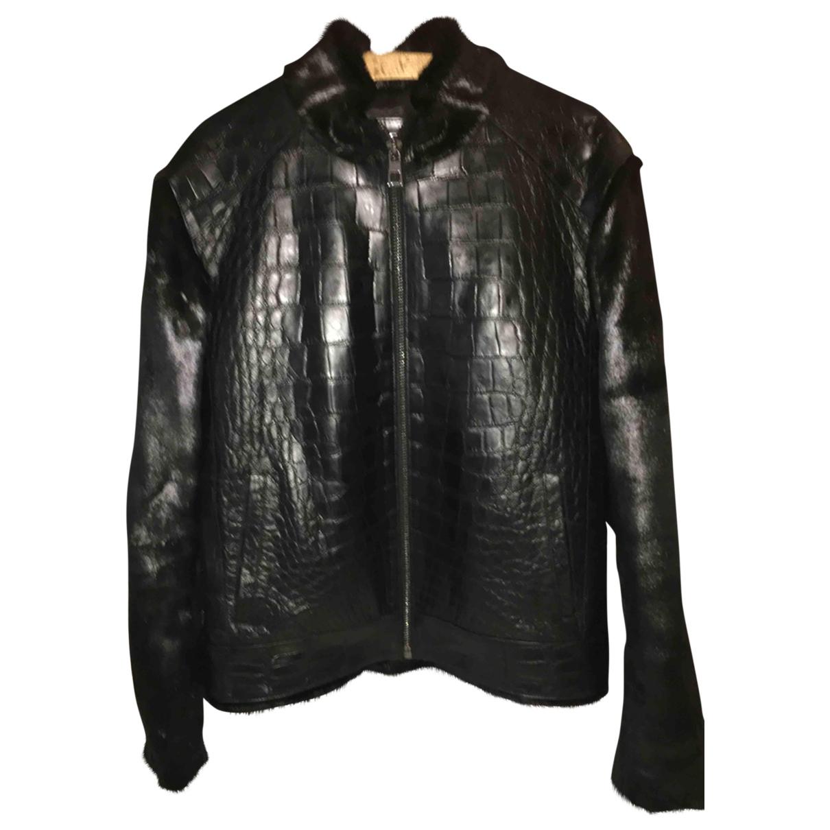 Non Signé / Unsigned \N Black Crocodile jacket  for Men L International