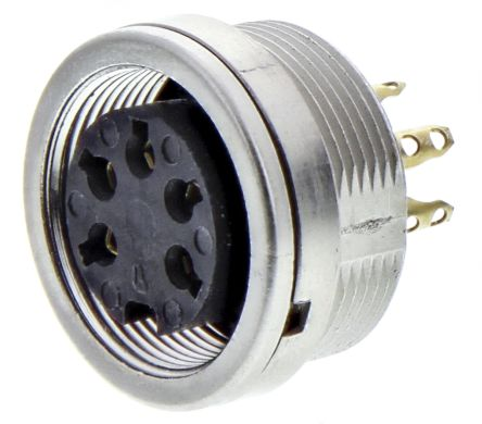Lumberg 5 Pole Din Socket Socket, DIN EN 60529, 5A, 250 V ac IP68