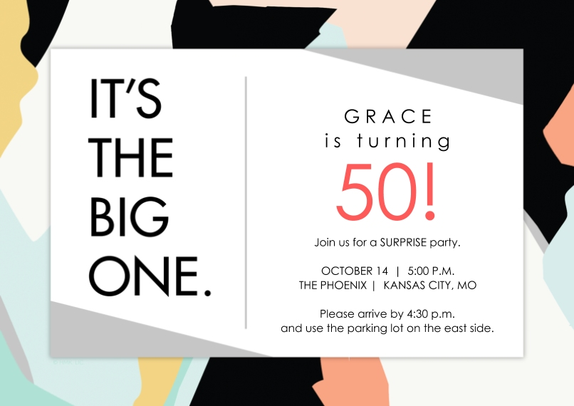 Birthday Party Invites 5x7 Cards, Premium Cardstock 120lb with Scalloped Corners, Card & Stationery -The BIG ONE Birthday Invitation by Hallmark