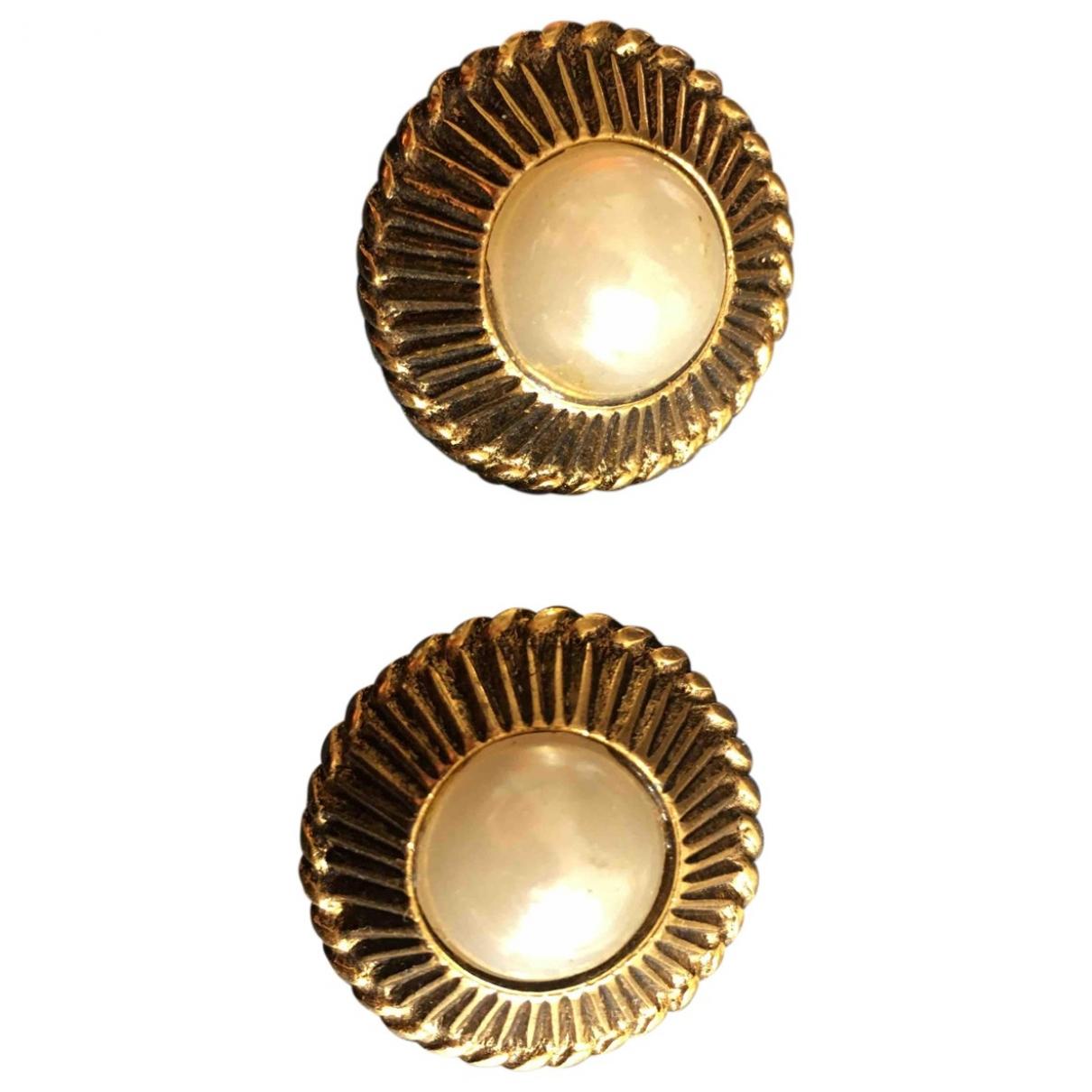Chanel - Boucles doreilles   pour femme en perles - dore