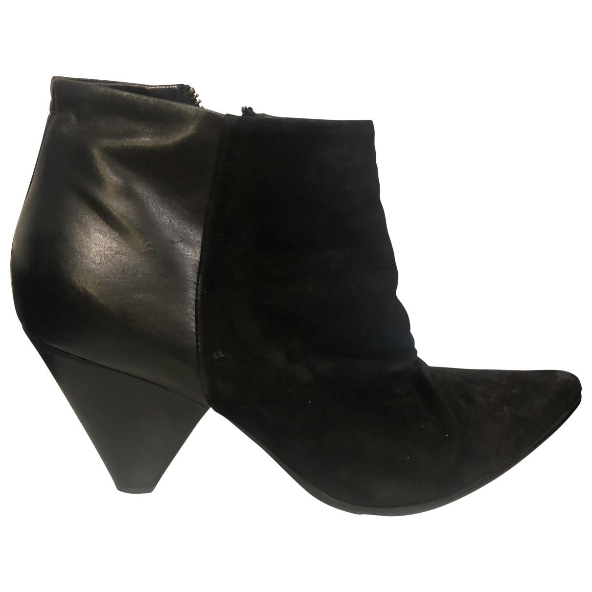 Pete Sorensen - Boots   pour femme en suede - noir