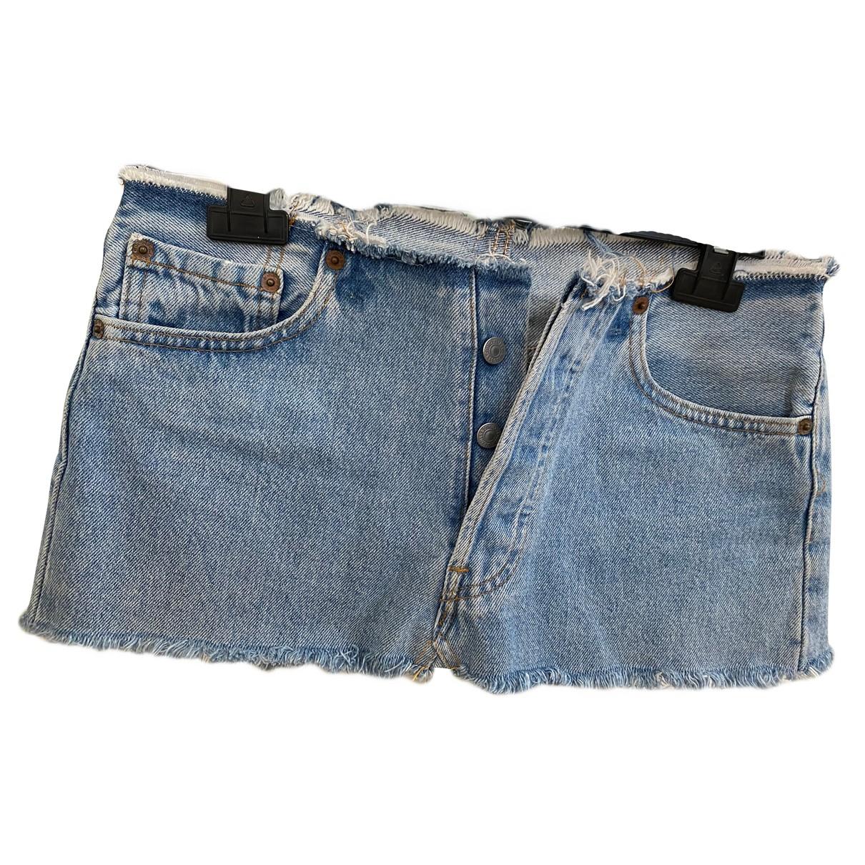 Levi's N Blue Denim - Jeans skirt for Women 38 IT
