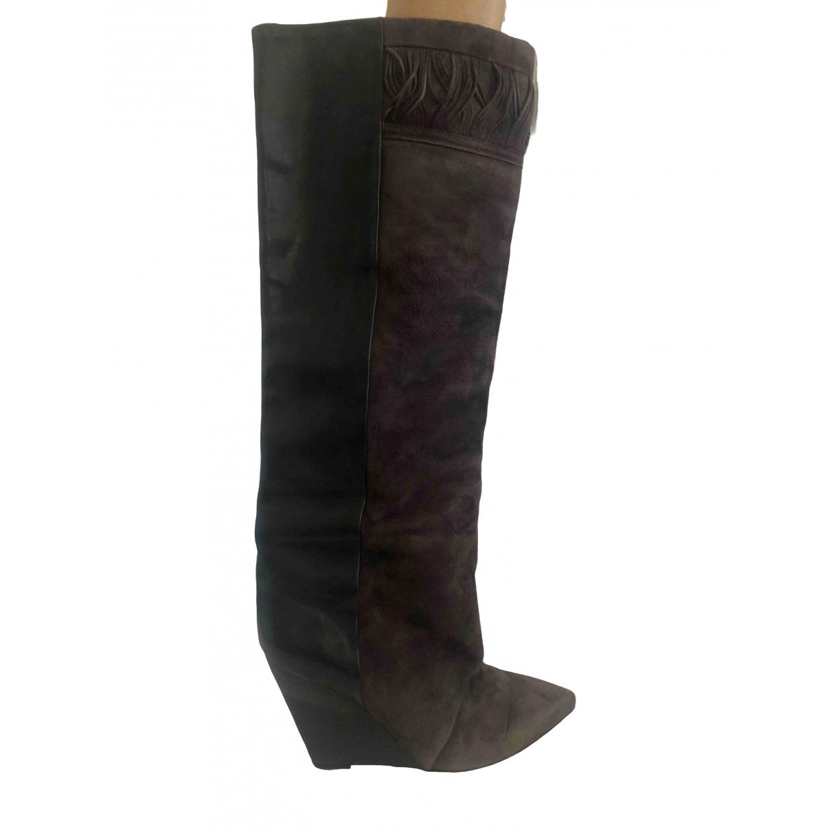 Isabel Marant \N Stiefel in  Khaki Leder