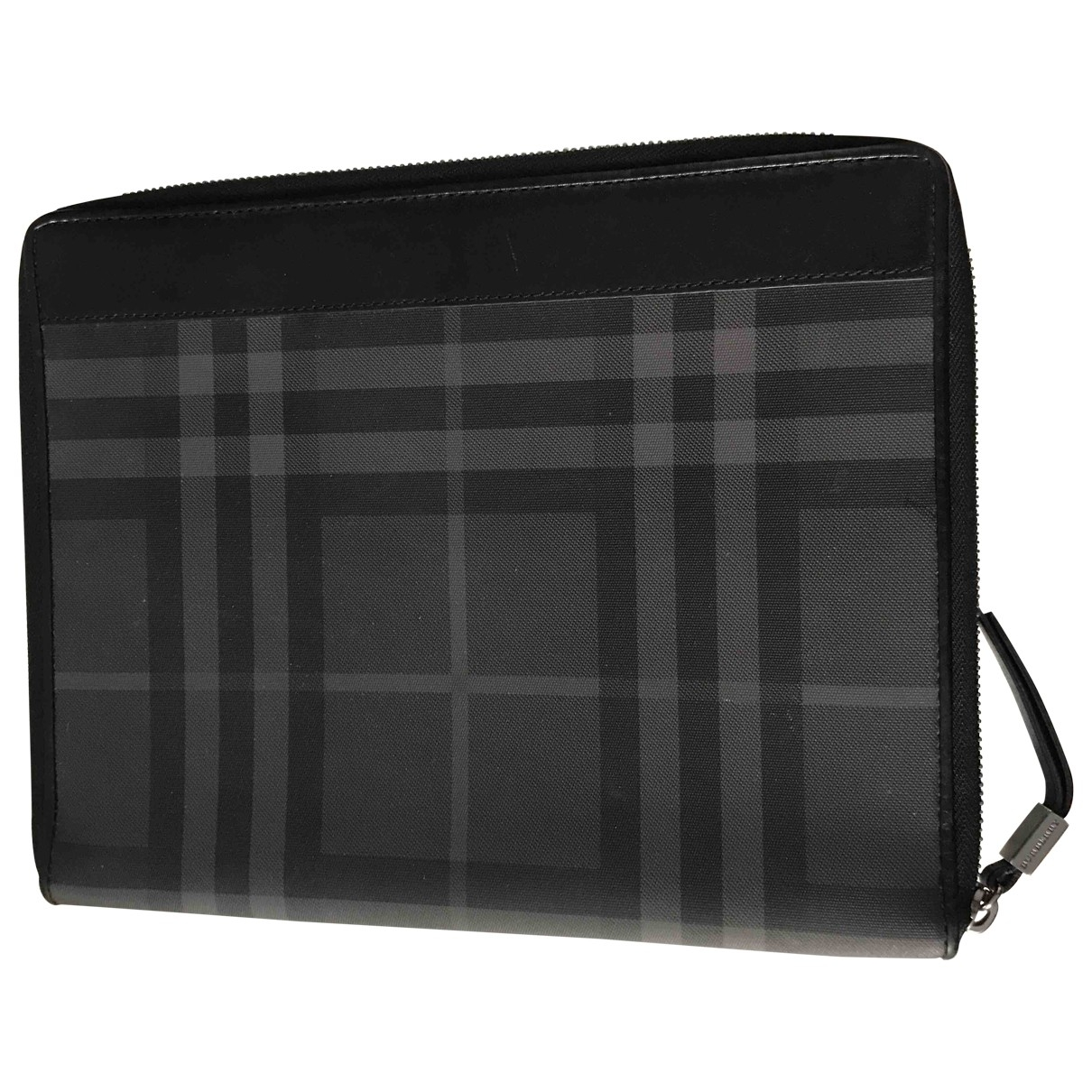 Burberry \N Anthracite Cloth Clutch bag for Women \N