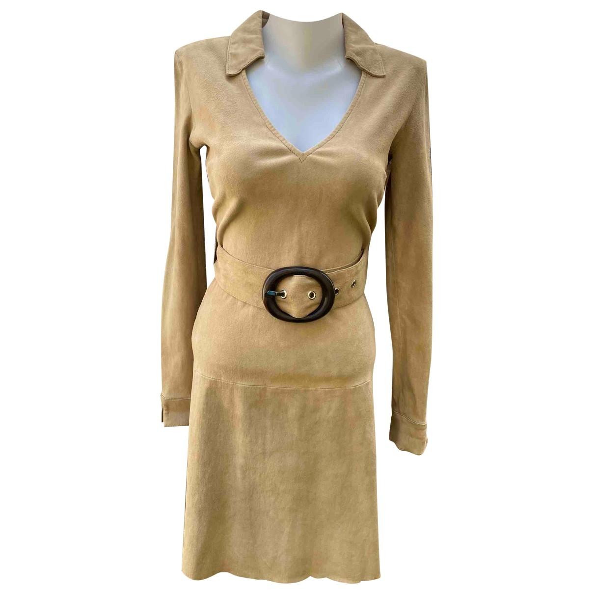 Jitrois \N Beige Suede dress for Women 38 FR