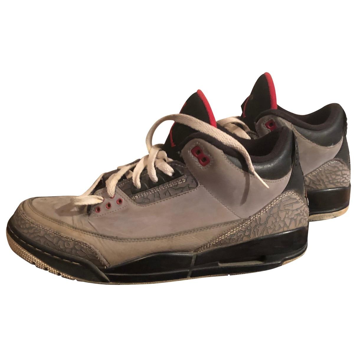 Jordan Air Jordan 3 Grey Cloth Trainers for Men 11 US