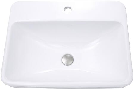 DI-2317-R1 Brant Point Collection 23 Sink Vanity with Vitreous China Material  Single Bowl  Top Mount Installation and Pre-Drilled Faucet Hole  in