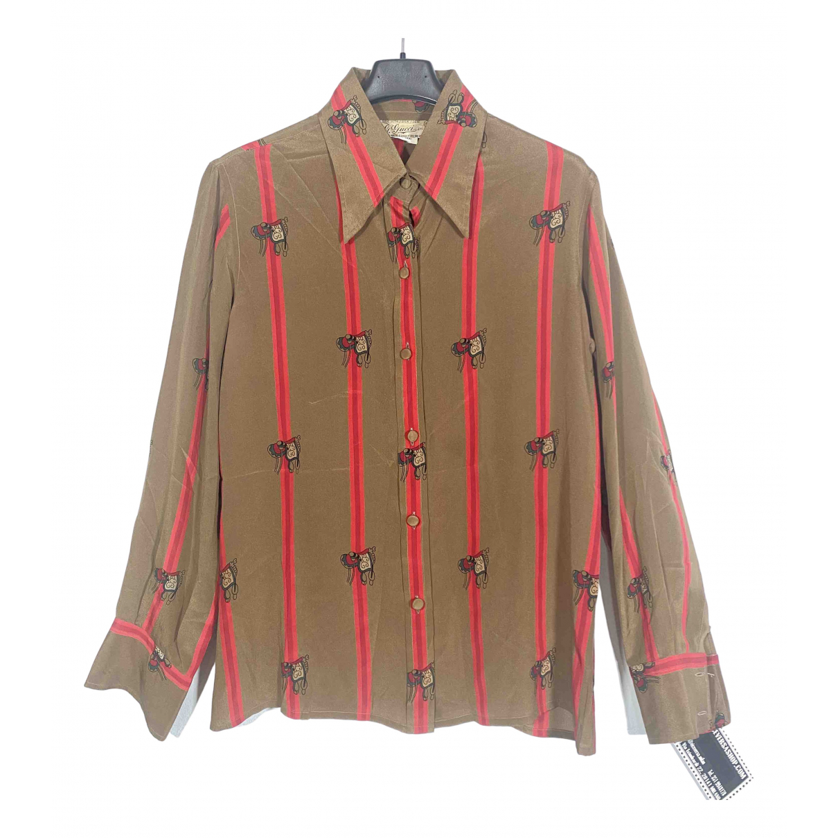Gucci N Brown Silk  top for Women 46 IT