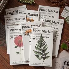 17 Stuecke zufaelliger Aufkleber mit Pflanzen Muster