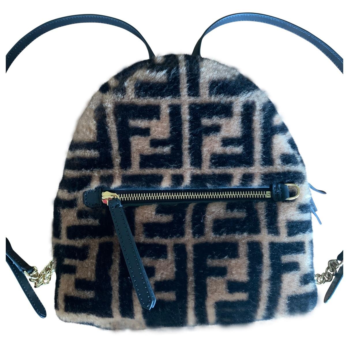 Fendi \N Brown Shearling backpack for Women \N