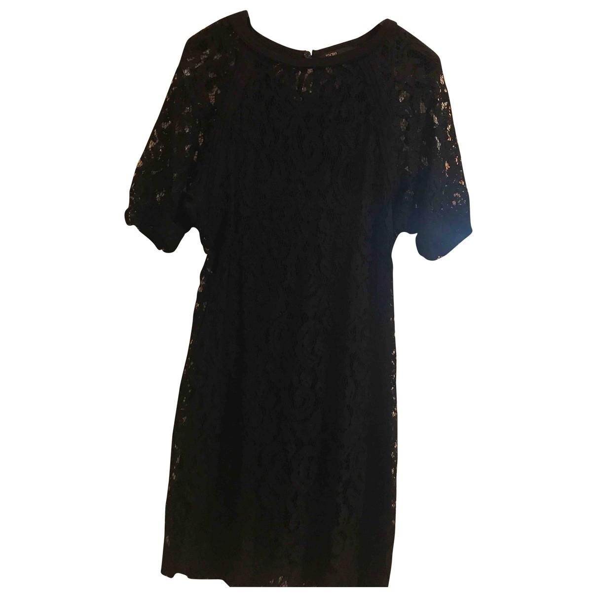 Maje - Robe   pour femme en dentelle - noir