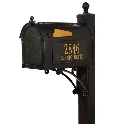 16296 Aluminum Deluxe Capitol Mailbox Package in