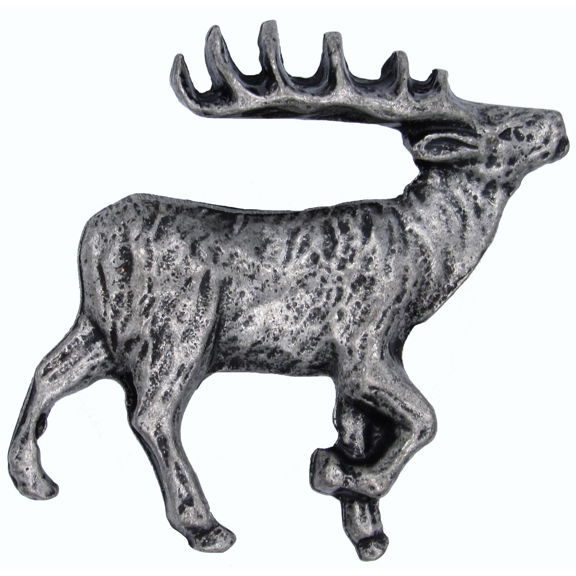 Walking Elk Pull Right Pewter Model 271P