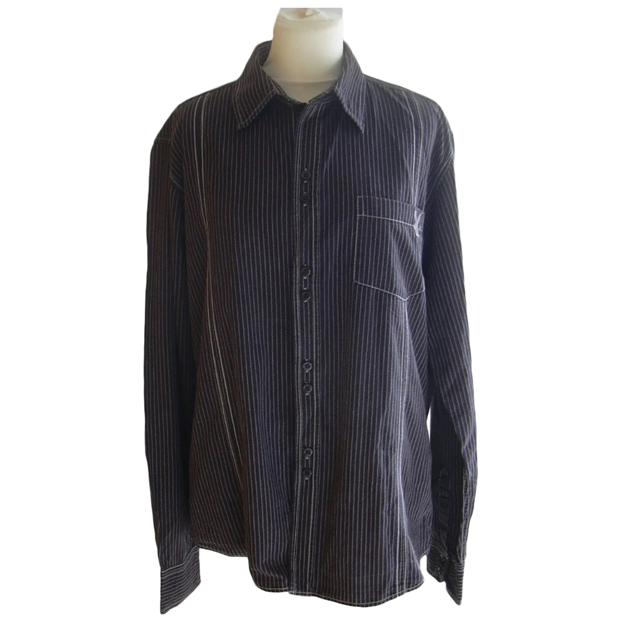 Non Signe / Unsigned \N Hemden in  Schwarz Baumwolle