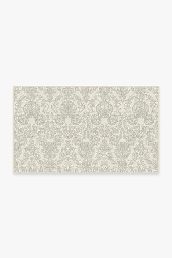 Washable Rug Cover | Mickey Damask Light Grey Rug | Stain-Resistant | Ruggable | 3x5