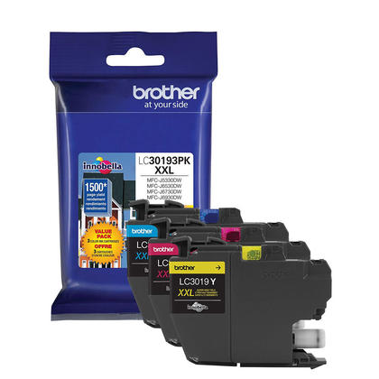 Brother MFC-J6530DW Original Color Ink C/M/Y Combo, 3 pack - Super High Yield