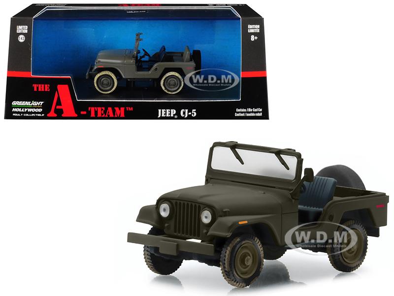 Jeep CJ-5 Army Green The A-Team (1983-1987) TV Series 1/43 Diecast Model Car  by Greenlight