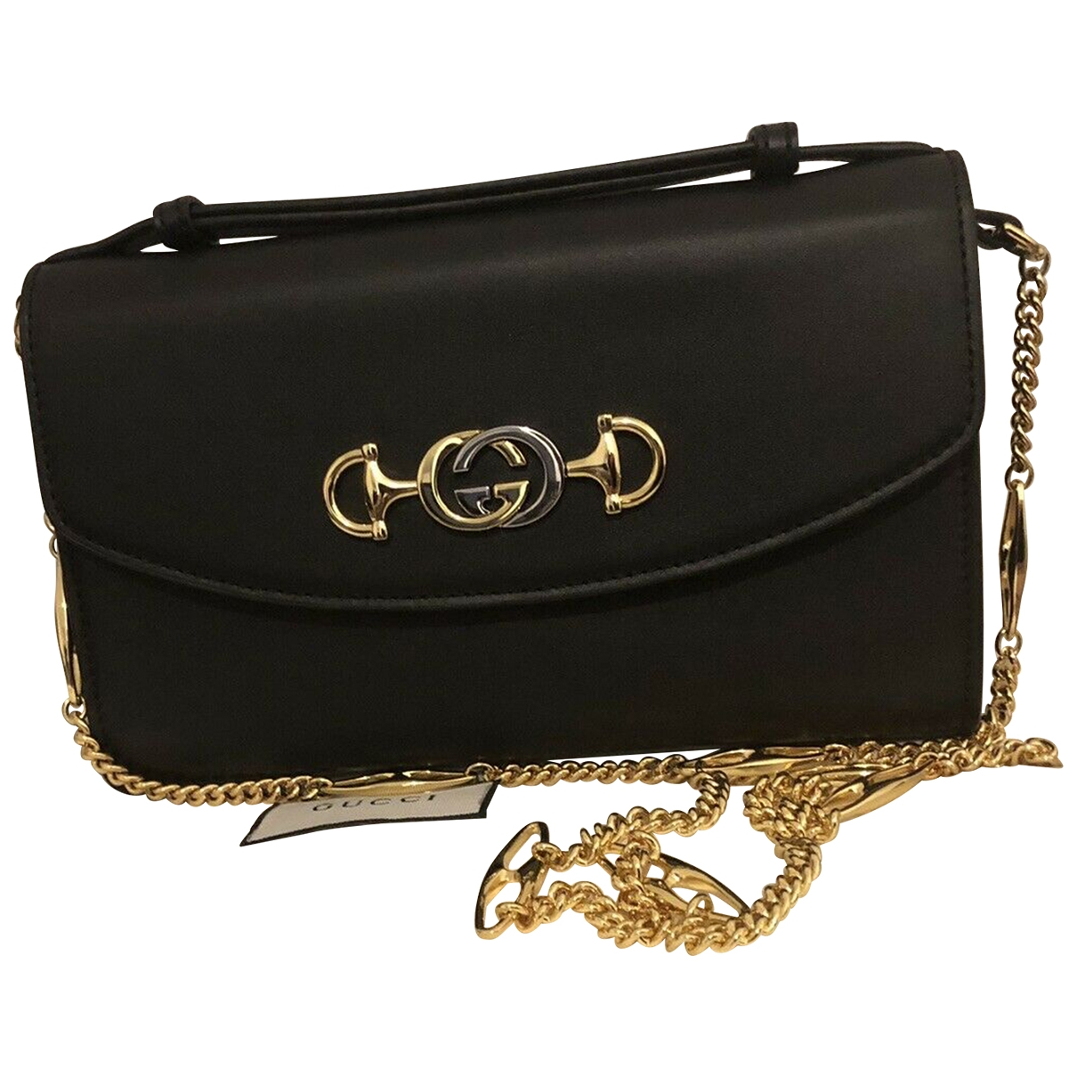 Gucci Zumi Black Leather handbag for Women \N