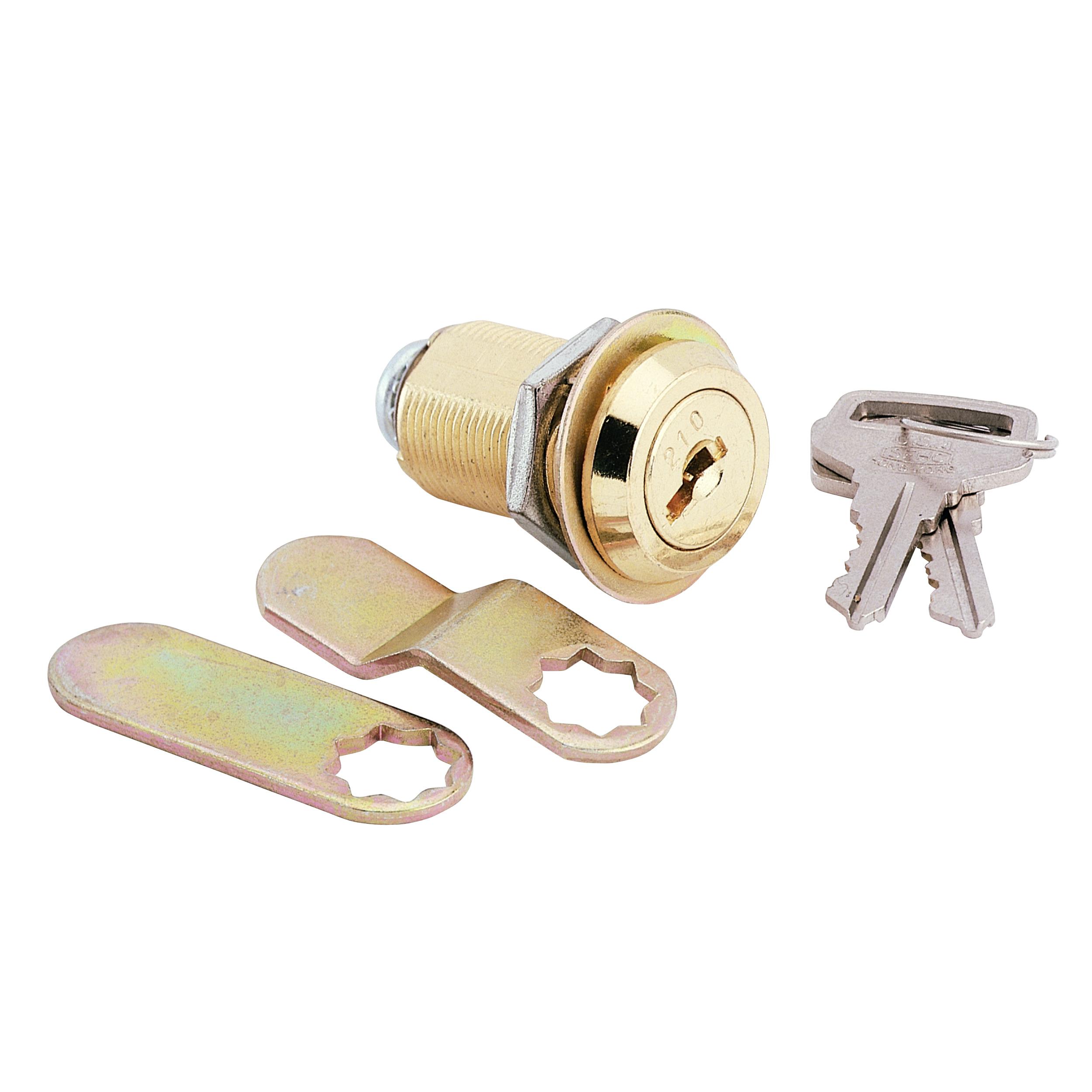 Cam Lock, Threaded Cylinder, Brass