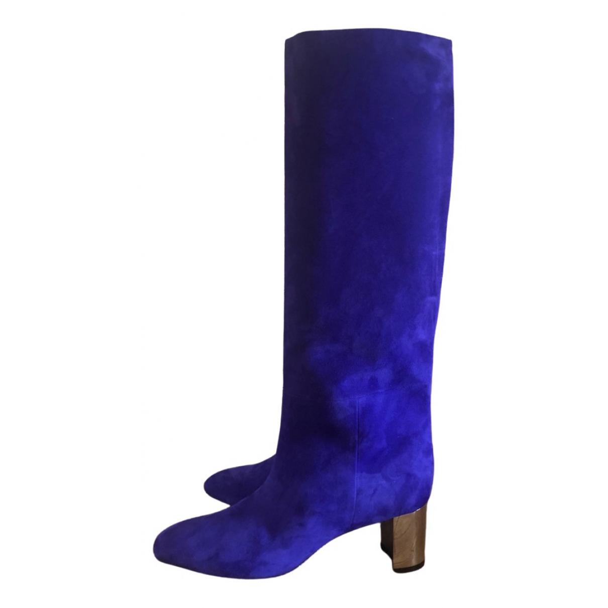 Emilio Pucci - Bottes   pour femme en suede - bleu