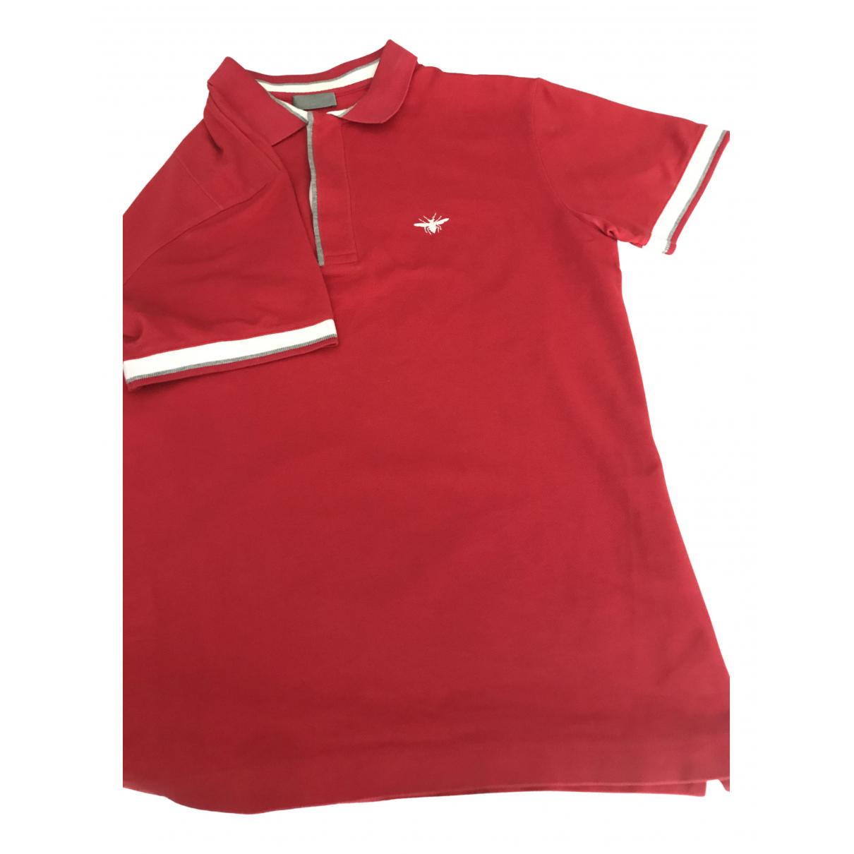 Dior Homme - Polos   pour homme en coton - rouge