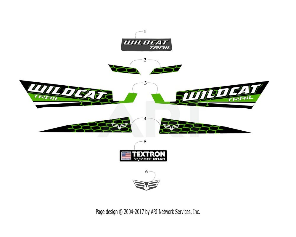 Arctic Cat OEM 6411-188 Decal Side Lwr Right Hand (Wc Trl Lime)