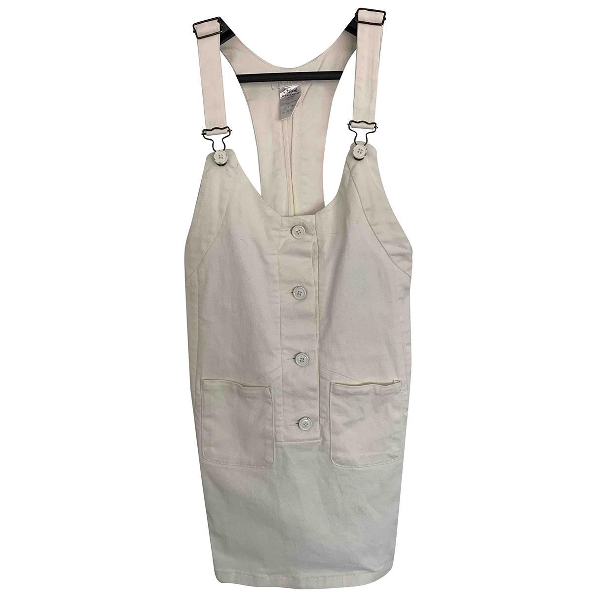 Chloe - Robe   pour femme en coton - blanc