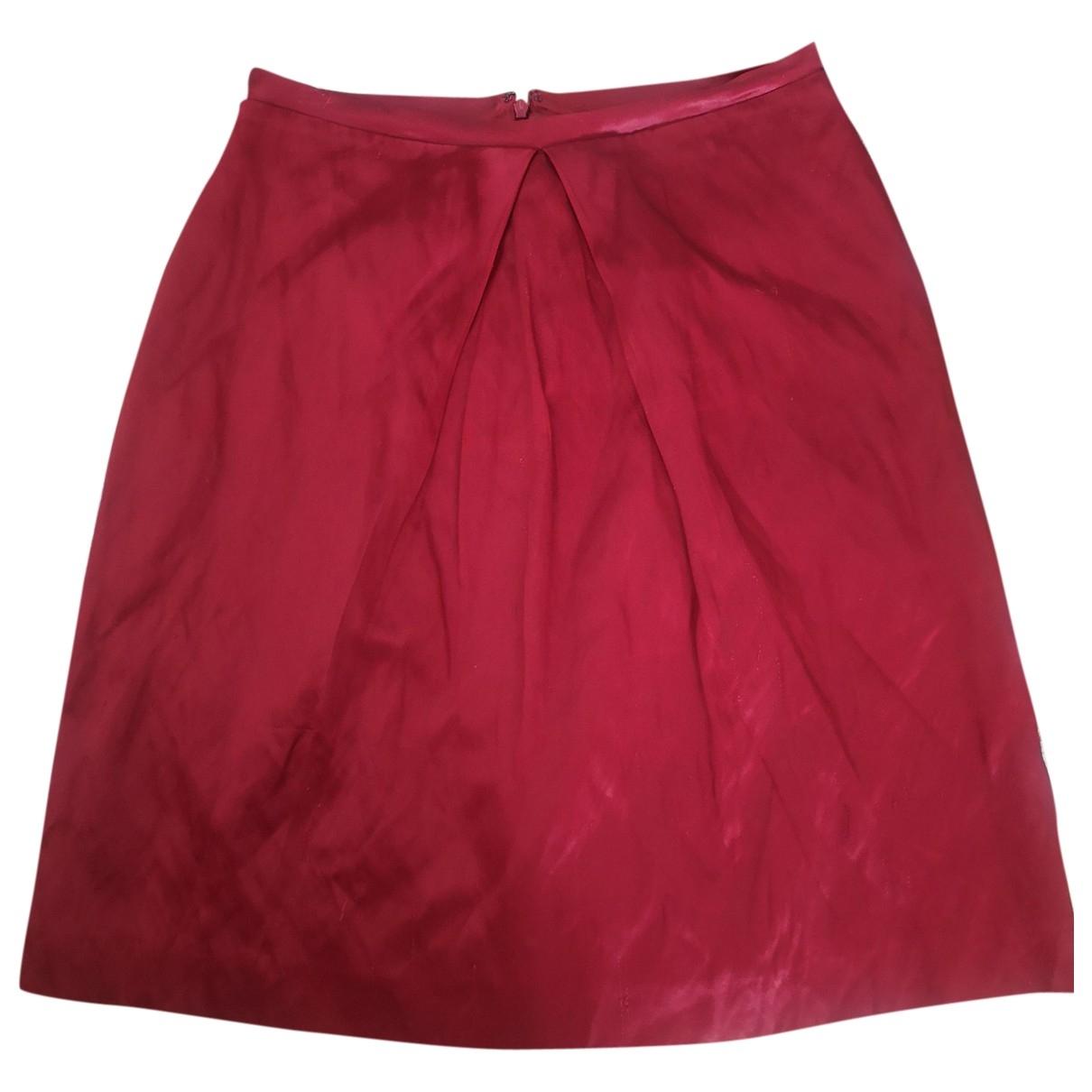 Aspesi \N Red Silk skirt for Women 42 IT