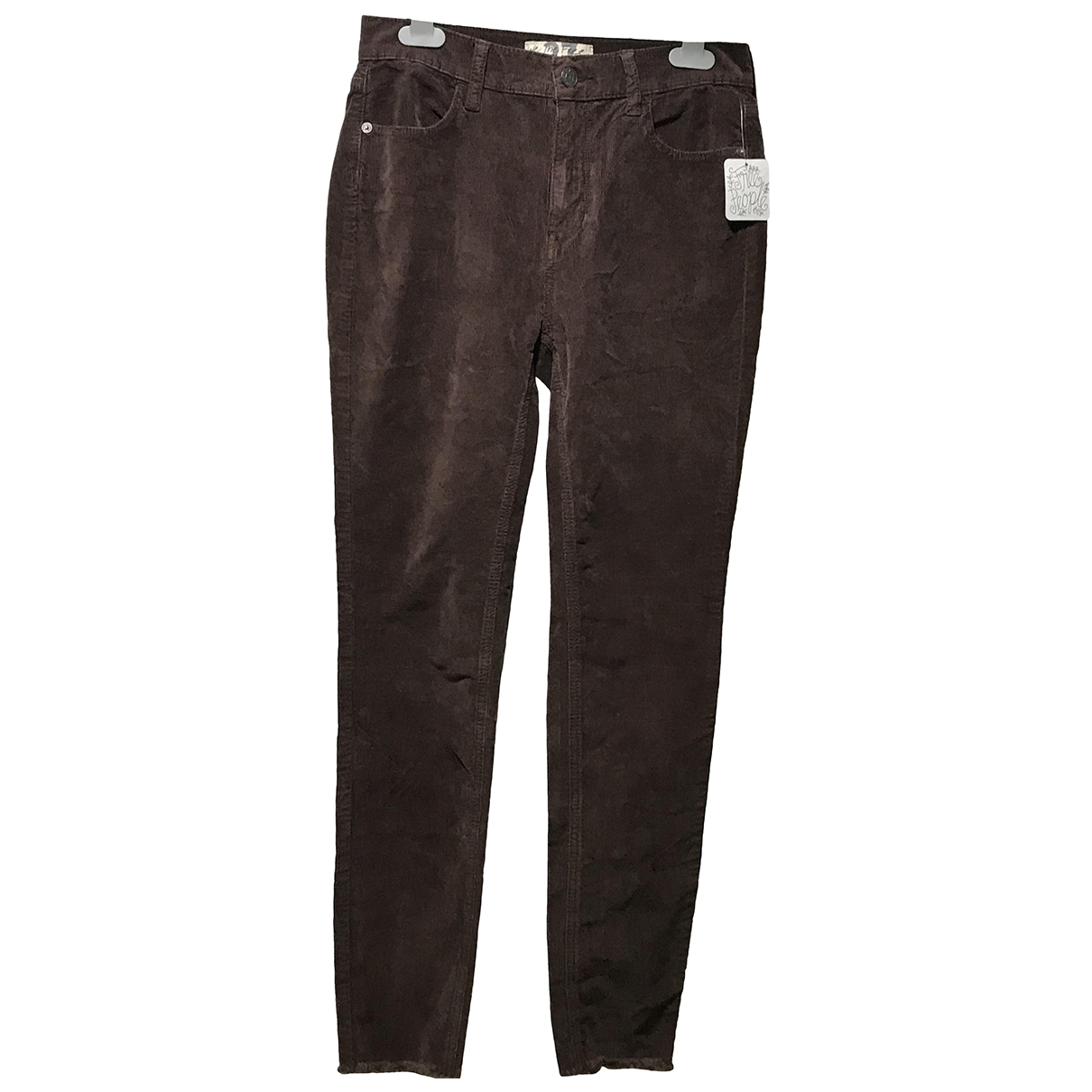 Free People N Brown Denim - Jeans Trousers for Women 10 UK