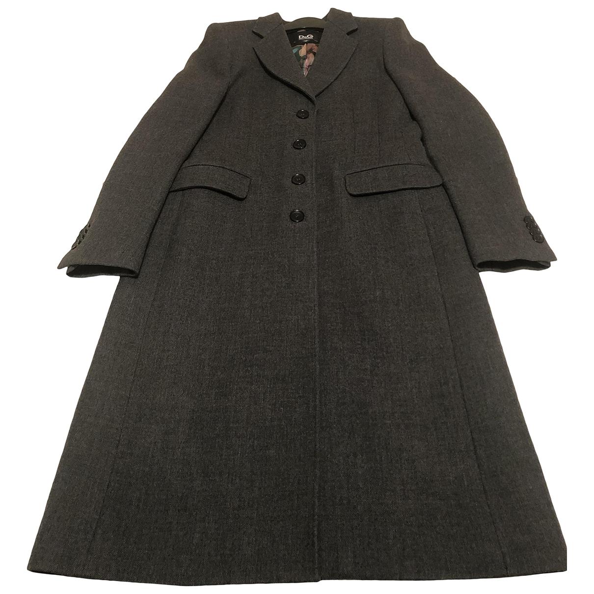 D&g N Grey Wool coat for Women 46 IT