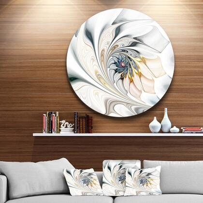 MT10276-C23 White Stained Glass Floral