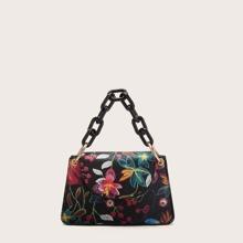 Handtasche mit Blumen Stickereien