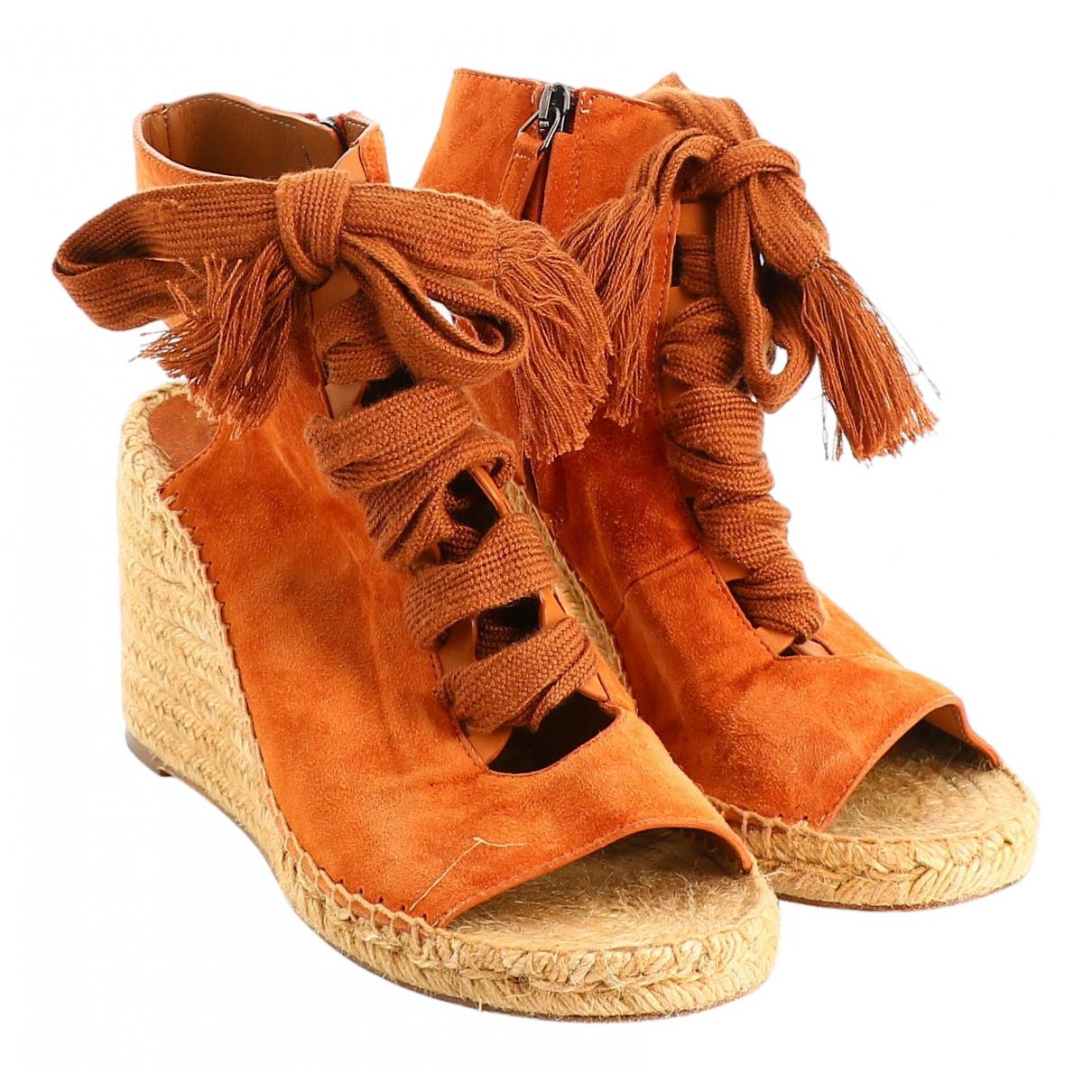 Chloe - Sandales   pour femme en suede - orange