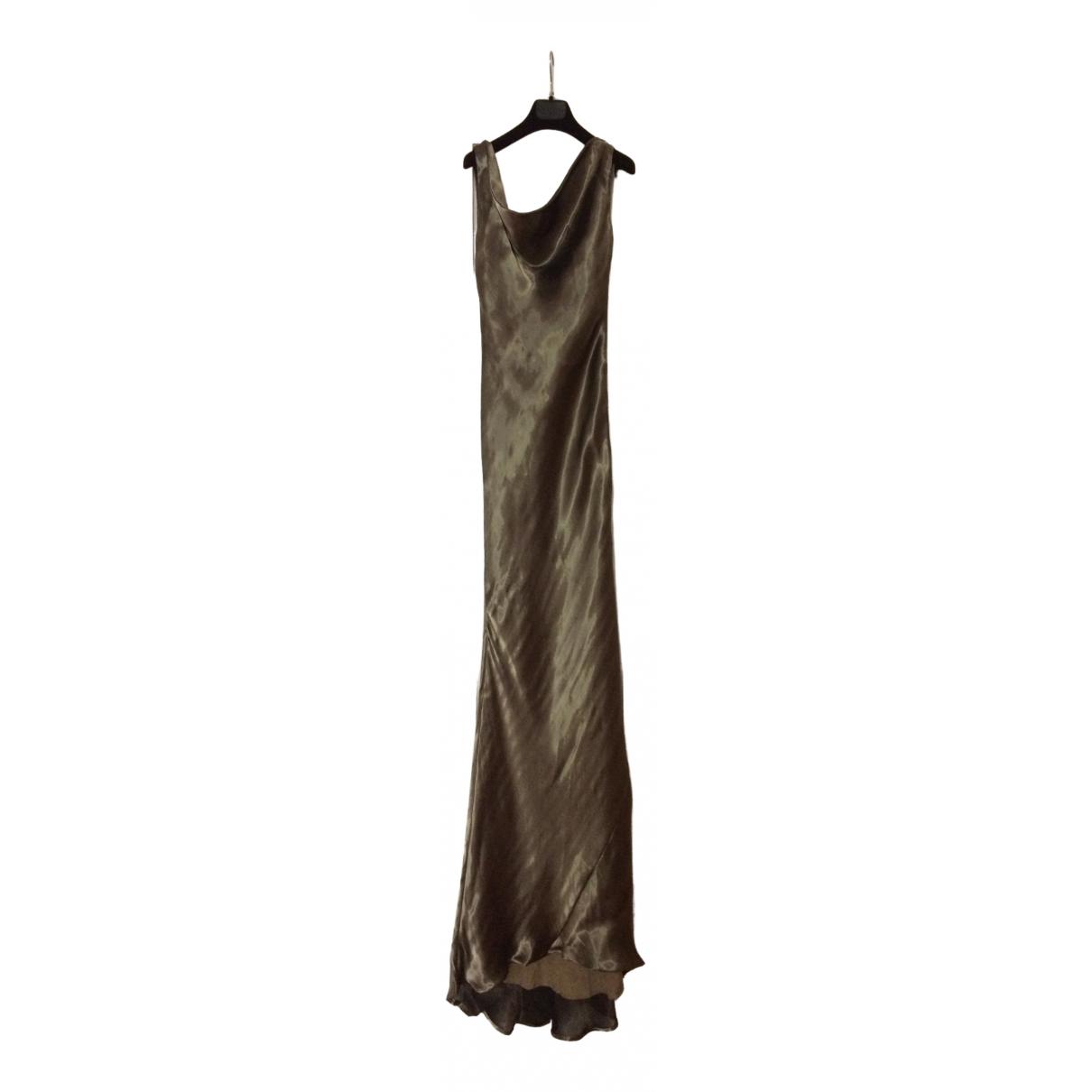 Alexander Mcqueen \N Kleid in  Metallic Viskose