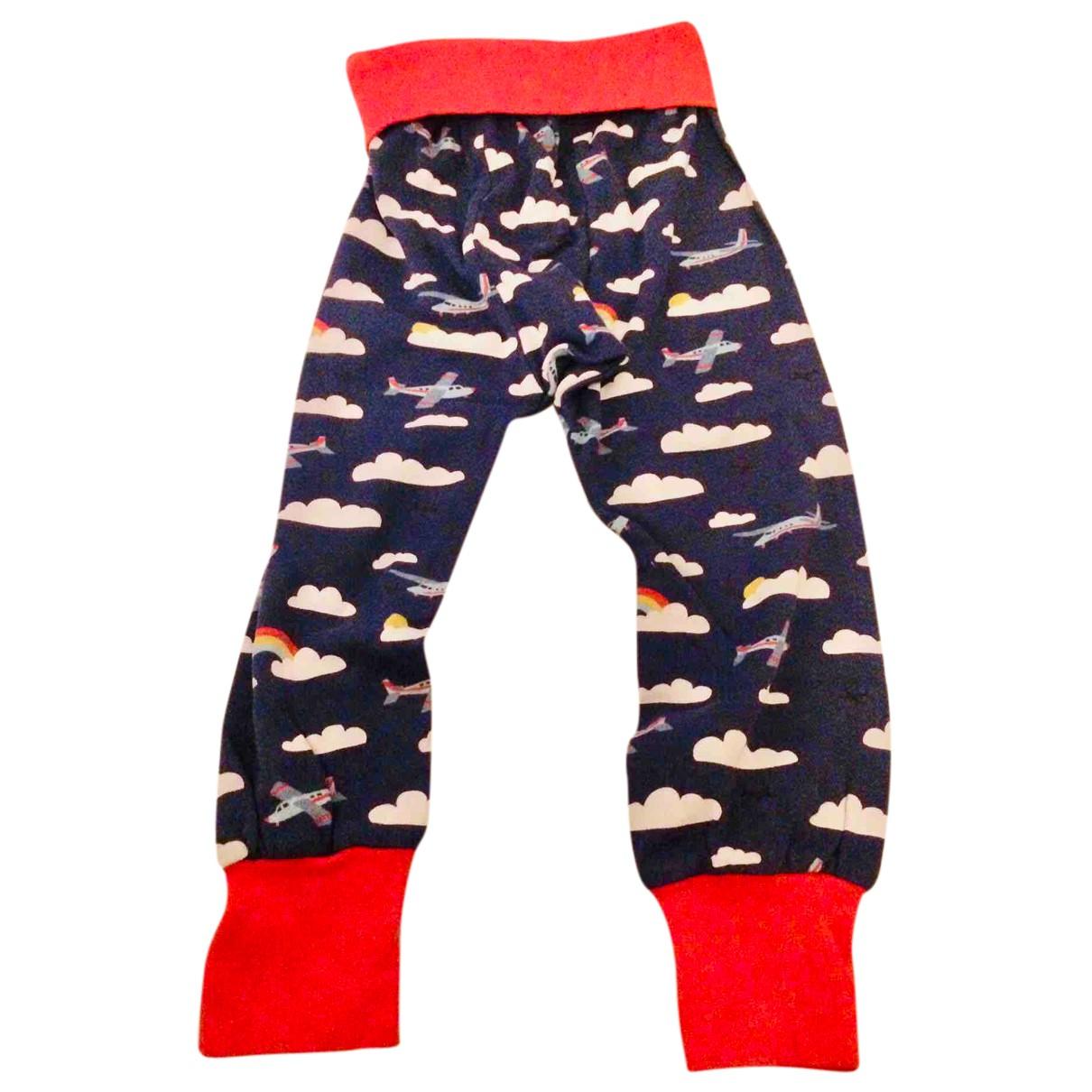 - Pantalon   pour enfant en coton - bleu