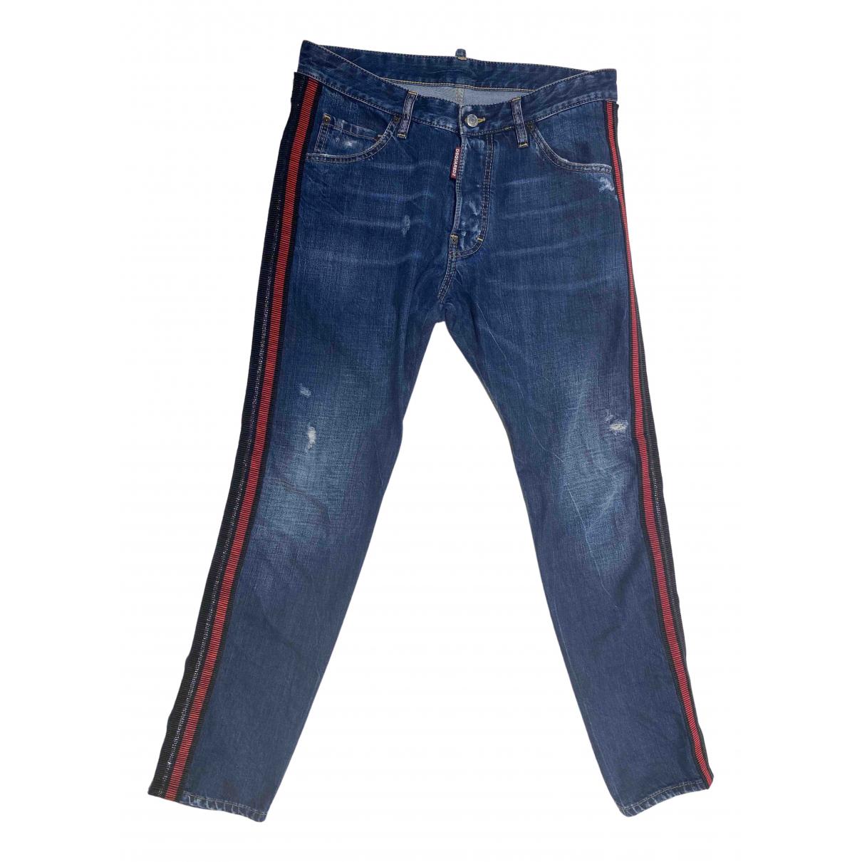 Dsquared2 N Blue Cotton Jeans for Men 33 US