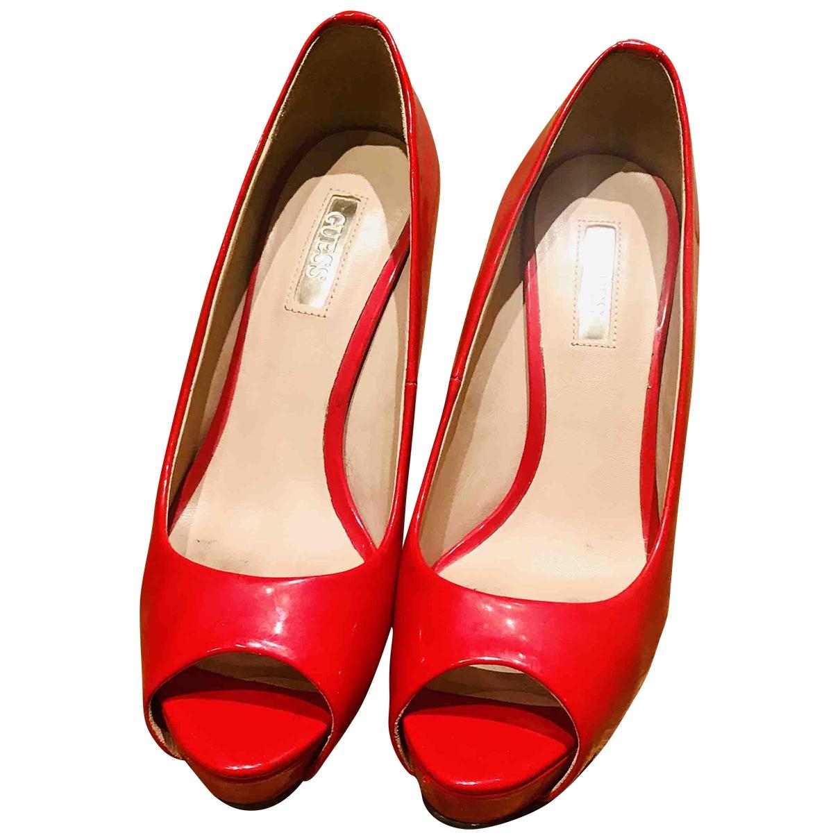 Guess - Escarpins   pour femme - rouge