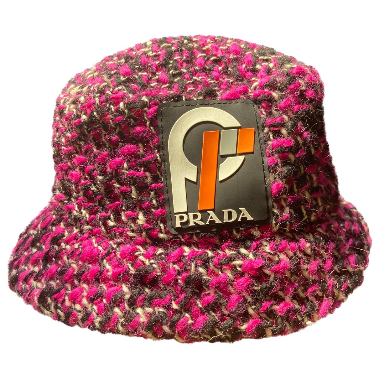 Prada N Pink Wool hat for Women S International