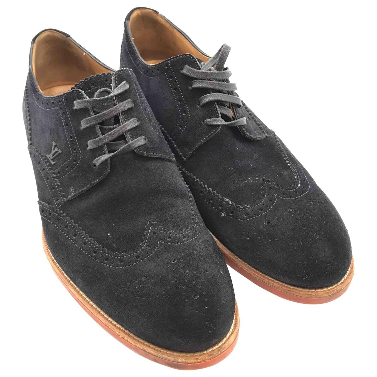 Louis Vuitton \N Black Suede Lace ups for Men 41.5 EU