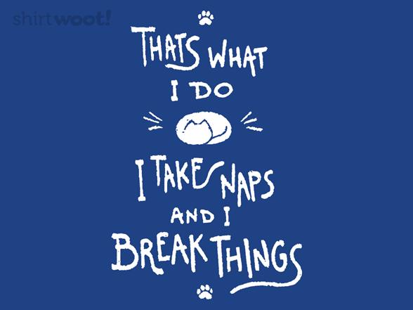 I Take Naps And I Break Things T Shirt