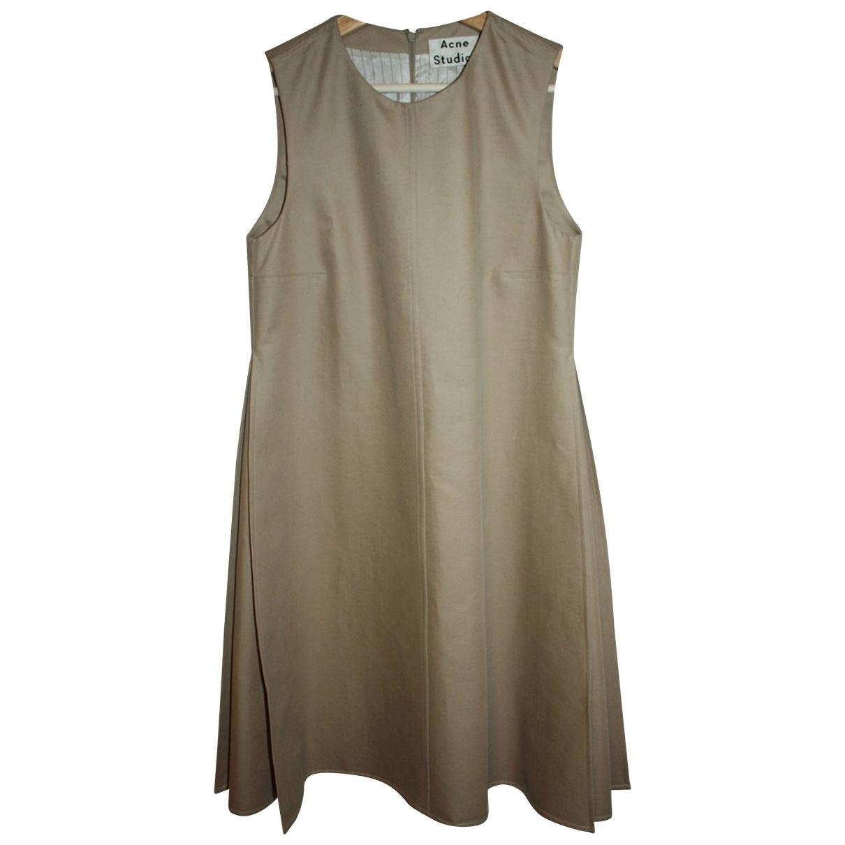 Acne Studios \N Kleid in  Beige Baumwolle