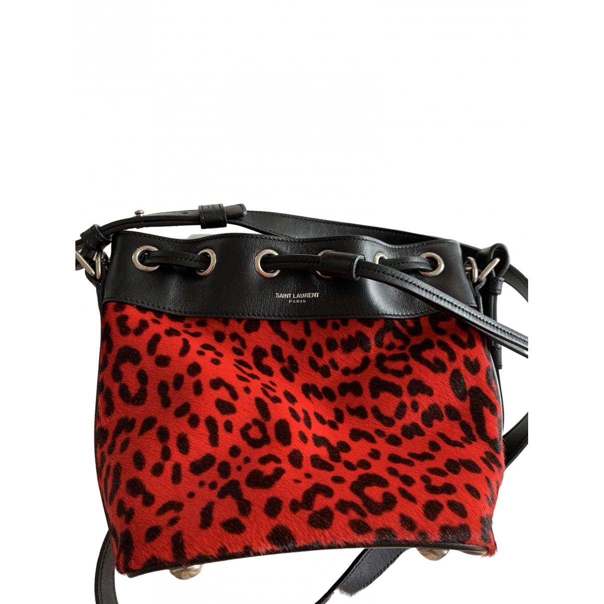 Saint Laurent Emmanuelle Red Pony-style calfskin handbag for Women \N
